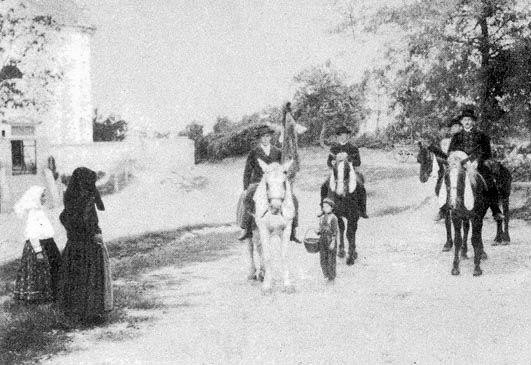 Pünkösdi lovaglás Somogy megyében (Fotó: mek.oszk.hu)