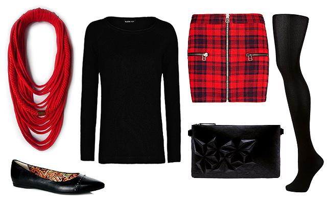 b6a6b560e2 Szoknya: Zara, pulóver: Mango, textilnyaklánc: Musume, táska: Bershka,
