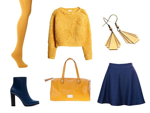 Pulóver: H&M, szoknya: Pull&Bear, táska: Stradivarius, bokacsizma: Zara, fülbevaló: Fércművek
