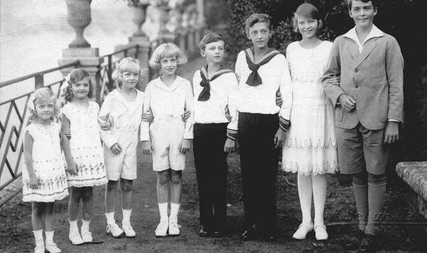 A gyerekek: Otto, Adelhaid, Robert, Felix, Karl Ludwig, Rudolf, Charlotte, Elisabeth