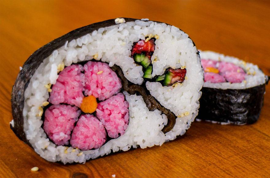 Az ételszobrászat mesterfoka: cuki állatok és A sikoly szusiból