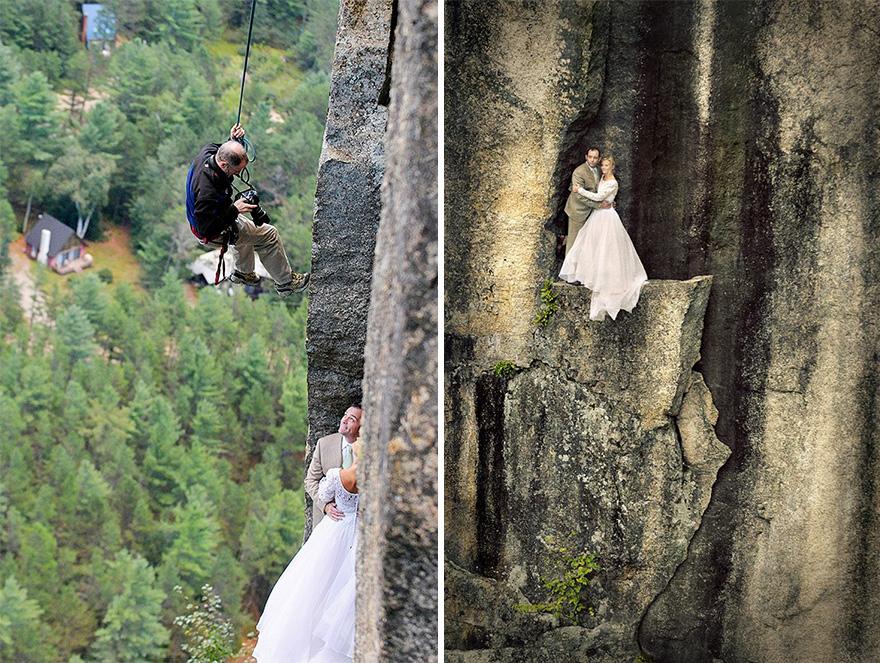 0c19d1f8fc Ennél extrémebb esküvői fotózást még nem láttál – lélegzetelállító ...