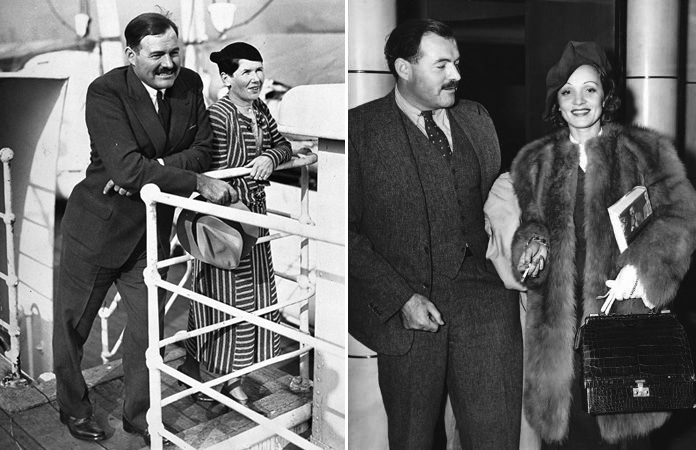 Hemingway és Pauline Pfeiffer - Hemingway és Marlene Dietrich