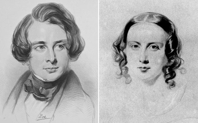 A fiatal Dickens és Catherine Hogarth