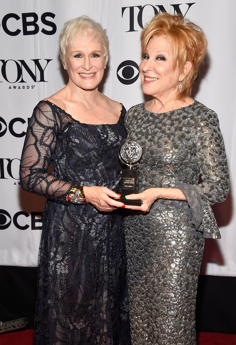 Glenn Close és Bette Midler -  a Tony Awardson
