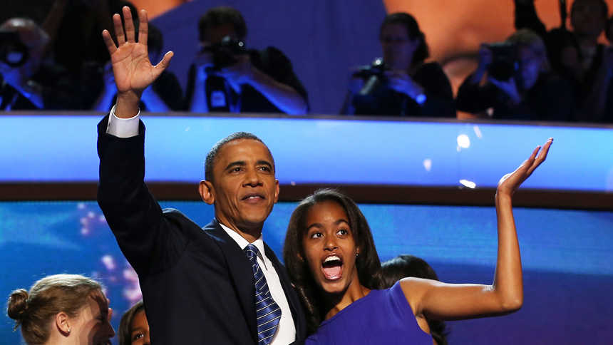 Barack és Malia Obama 2012-ben (Fotó: Getty Images)