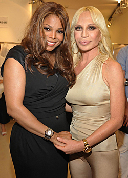 Janet Jackson és Donatella Versace