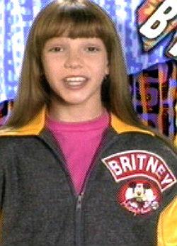 Britney 11 évesen a Mickey Mouse tagjaként