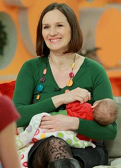 Malek Andrea és kislánya: Léna