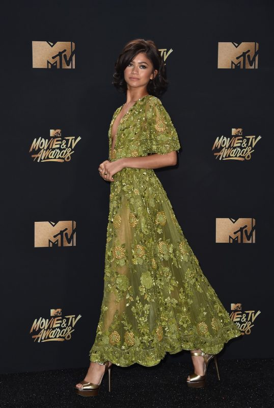 LOS ANGELES, CA - MAY 07: Zendaya attends the 2017 MTV Movie And TV Awards at The Shrine Auditorium on May 7, 2017 in Los Angeles, California.   Alberto E. Rodriguez/Getty Images/AFP