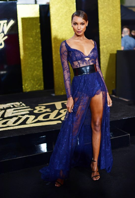 LOS ANGELES, CA - MAY 07: Model Jasmine Tookes attends the 2017 MTV Movie And TV Awards at The Shrine Auditorium on May 7, 2017 in Los Angeles, California.   Matt Winkelmeyer/Getty Images/AFP