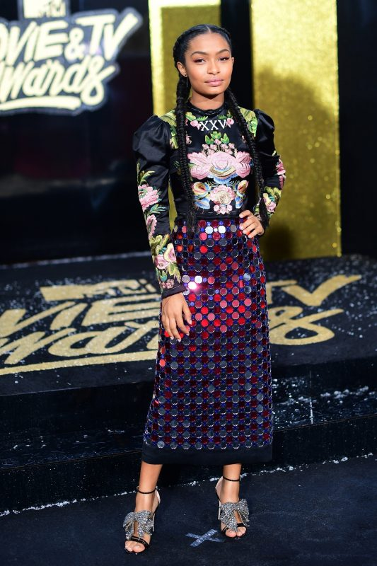 LOS ANGELES, CA - MAY 07: Actor Yara Shahidi attends the 2017 MTV Movie And TV Awards at The Shrine Auditorium on May 7, 2017 in Los Angeles, California.   Matt Winkelmeyer/Getty Images/AFP