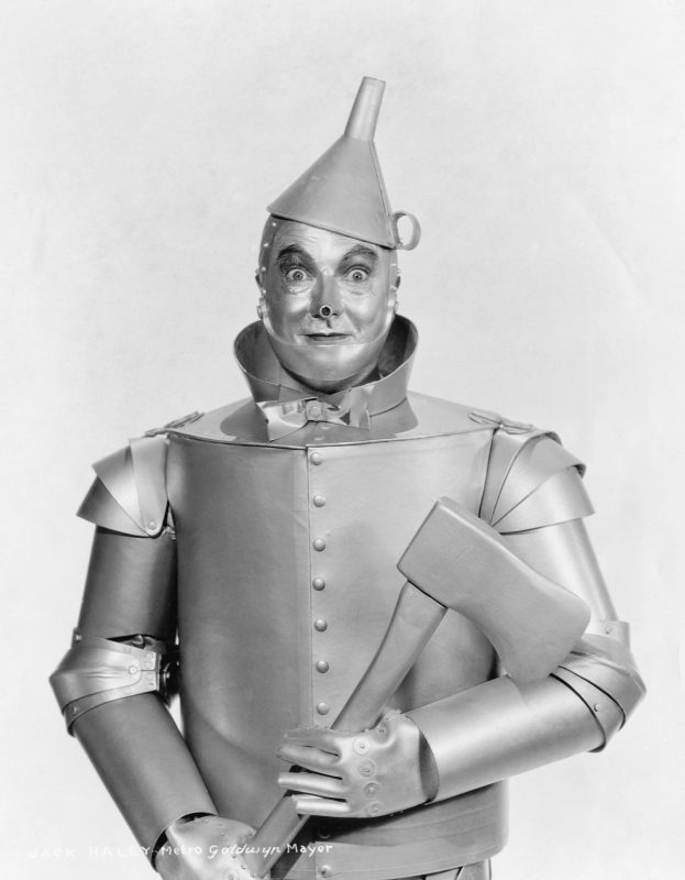 Jack Haley plays the Tin Woodsman in the 1939 movie The Wizard of Oz. (Photo by �� John Springer Collection/CORBIS/Corbis via Getty Images)