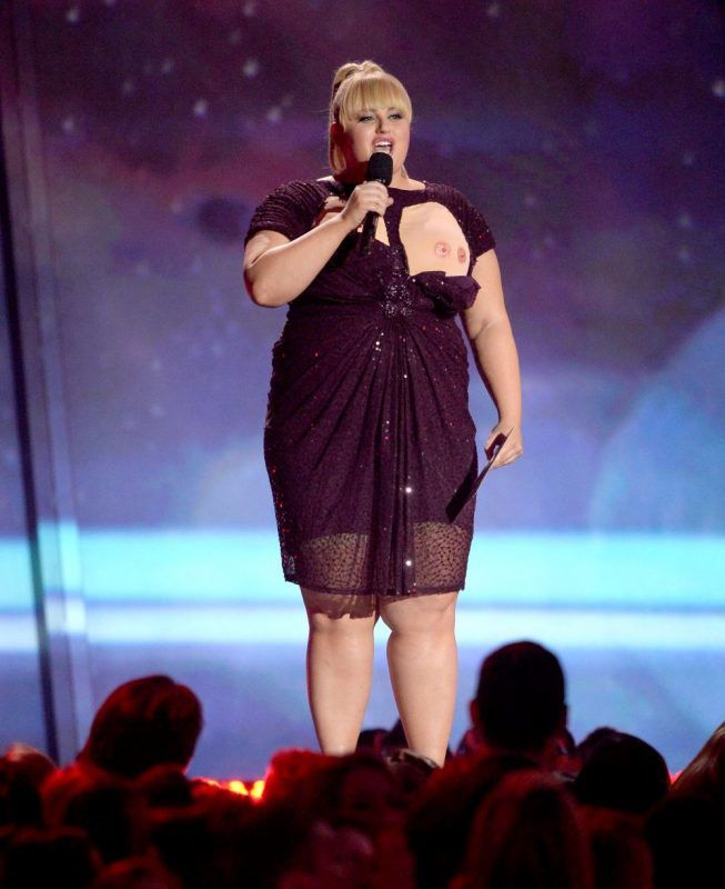 CULVER CITY, CA - APRIL 14:  Host Rebel Wilson speaks onstage during the 2013 MTV Movie Awards at Sony Pictures Studios on April 14, 2013 in Culver City, California.  (Photo by Kevork Djansezian/Getty Images)