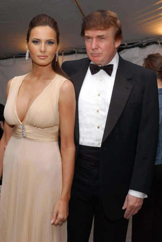 """Melania Knauss and Donald Trump during Costume Institute Benefit Dance: """"Party of the Year"""" - Arrivals at Metropolitan Museum of Art in New York City, New York, United States. (Photo by Dimitrios Kambouris/WireImage)"""
