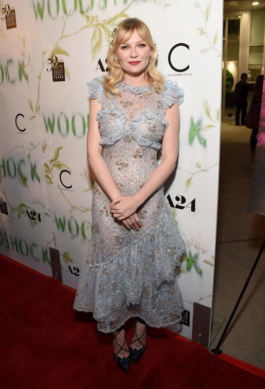 HOLLYWOOD, CA - SEPTEMBER 18:  Actress Kirsten Dunst attends the Los Angeles premiere of 'WoodShock' at ArcLight Cinemas on September 18, 2017 in Hollywood, California.  (Photo by Michael Kovac/Getty Images for A24 )