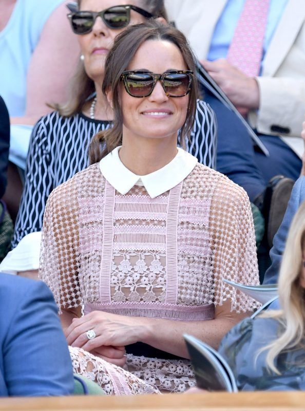 LONDON, ENGLAND - JULY 05:  Pippa Middleton attends day three of the Wimbledon Tennis Championships at the All England Lawn Tennis and Croquet Club on July 5, 2017 in London, United Kingdom.  (Photo by Karwai Tang/WireImage)