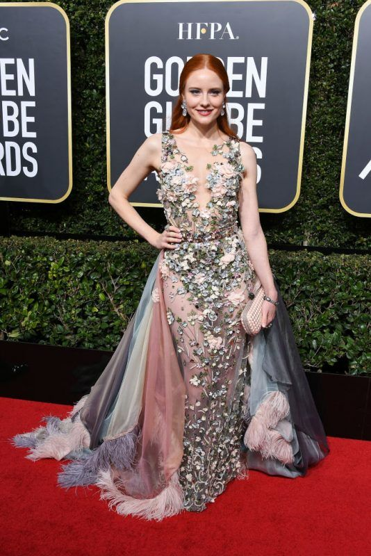 BEVERLY HILLS, CA - JANUARY 07:  Model Barbara Meier attends The 75th Annual Golden Globe Awards at The Beverly Hilton Hotel on January 7, 2018 in Beverly Hills, California.  (Photo by Steve Granitz/WireImage)