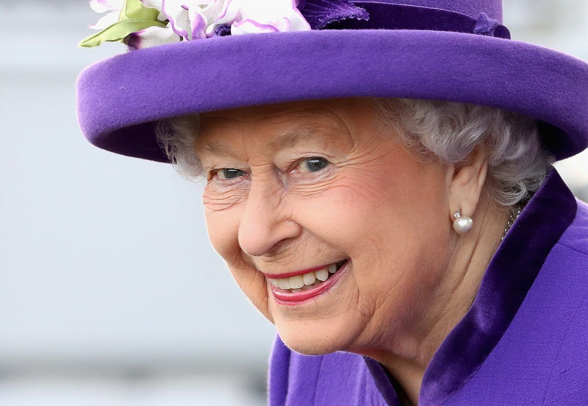 PORTSMOUTH, ENGLAND - DECEMBER 07:  Queen Elizabeth II attends the Commissioning Ceremony of HMS Queen Elizabeth at HM Naval Base on December 7, 2017 in Portsmouth, England. (Photo by Chris Jackson- WPA Pool/Getty Images)