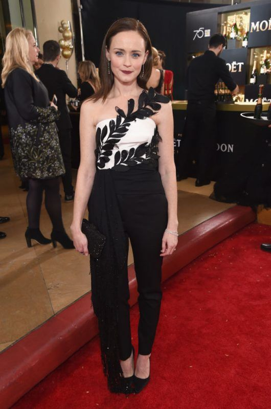 BEVERLY HILLS, CA - JANUARY 07:  Actor Alexis Bledel celebrates The 75th Annual Golden Globe Awards with Moet & Chandon at The Beverly Hilton Hotel on January 7, 2018 in Beverly Hills, California.  (Photo by Michael Kovac/Getty Images for Moet & Chandon)