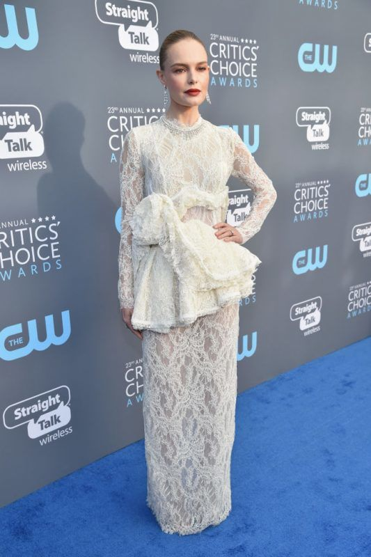 SANTA MONICA, CA - JANUARY 11:  Actor Kate Bosworth attends The 23rd Annual Critics' Choice Awards at Barker Hangar on January 11, 2018 in Santa Monica, California.  (Photo by Kevin Mazur/WireImage)