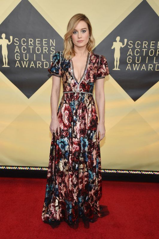 LOS ANGELES, CA - JANUARY 21: Actor Brie Larson attends the 24th Annual Screen Actors Guild Awards at The Shrine Auditorium on January 21, 2018 in Los Angeles, California.  (Photo by John Shearer/Getty Images for People Magazine)