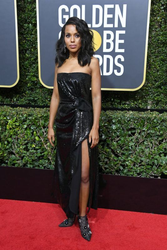 BEVERLY HILLS, CA - JANUARY 07:  Actor Kerry Washington attends The 75th Annual Golden Globe Awards at The Beverly Hilton Hotel on January 7, 2018 in Beverly Hills, California.  (Photo by Steve Granitz/WireImage)
