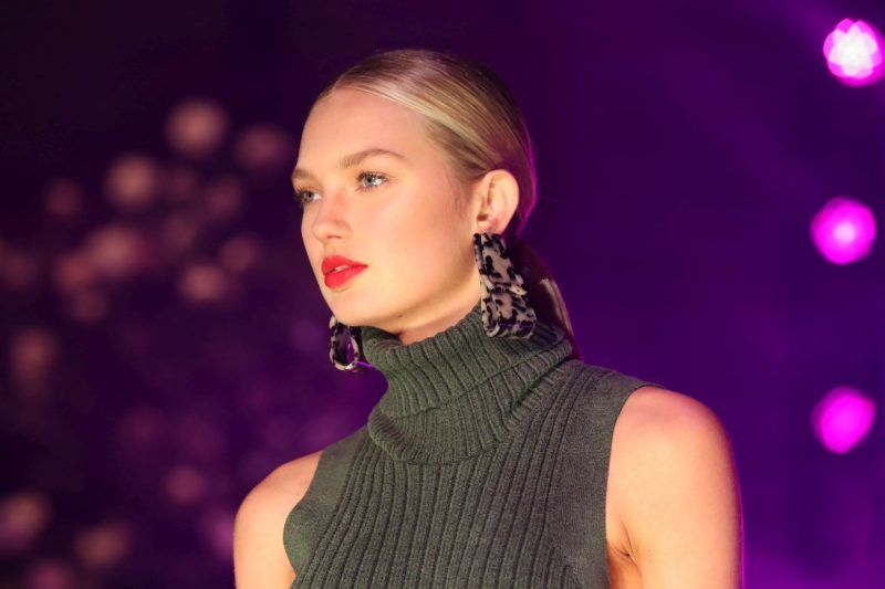 NEW YORK, NY - FEBRUARY 11:  Romee Strijd walks the runway at Brandon Maxwell Fall Winter 2018 Collection at the Appel Room on February 11, 2018 in New York City.  (Photo by JP Yim/Getty Images)