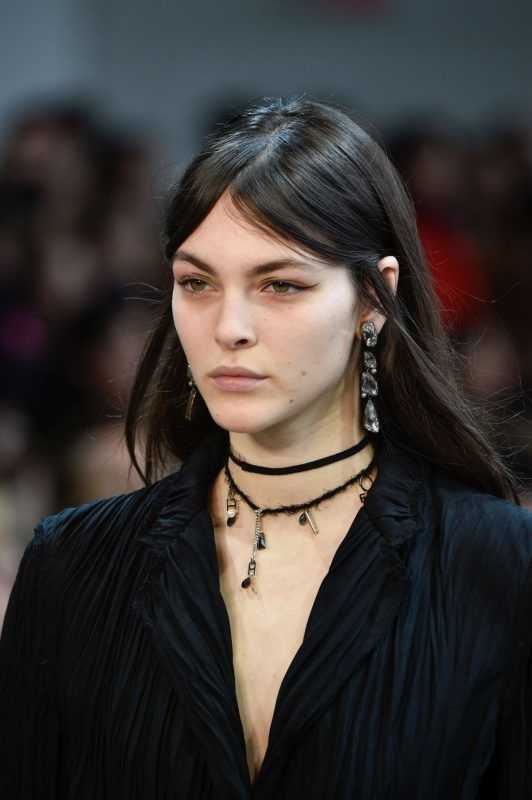 NEW YORK, NY - FEBRUARY 09:  Vittoria Ceretti walks the runway at Jason Wu Fashion Show during New York Fashion Week: The Shows at Gallery I at Spring Studios on February 9, 2018 in New York City.  (Photo by Peter White/WireImage)